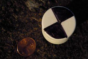 Mini disque de Secchi pour évaluer la turbidité