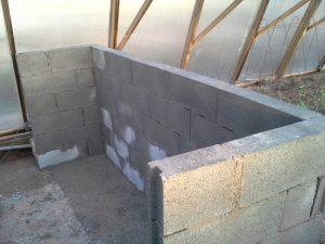 Murs de l'enceinte d'élevage des vers de farine