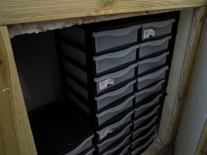 Blocs de tiroirs pour l'élevage des vers de farine