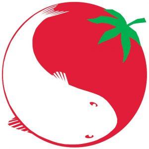 Logo du site truitesaquaponiques.com symbolisant une truite et une tomate