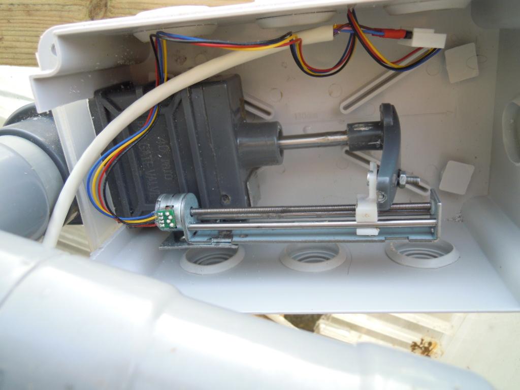 Electrovanne à guillotine 40 mm pilotée par arduino